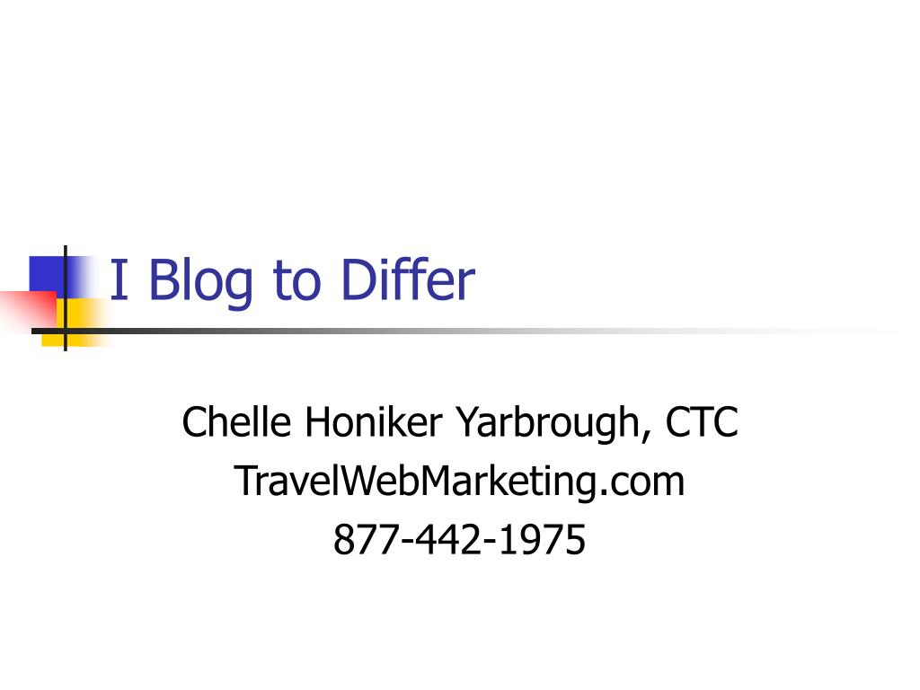 I Blog to Differ