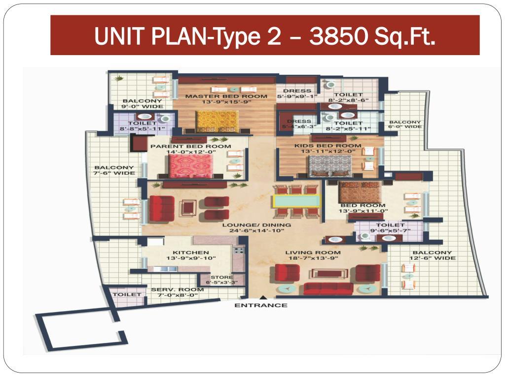 UNIT PLAN-Type 2 – 3850