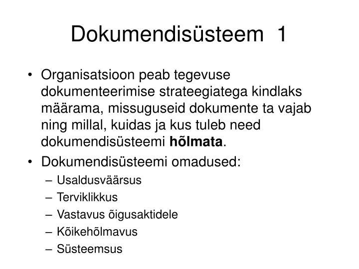 Dokumendisüsteem  1
