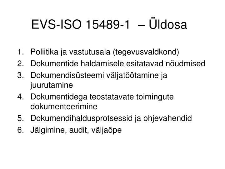 EVS-ISO 15489-1  – Üldosa