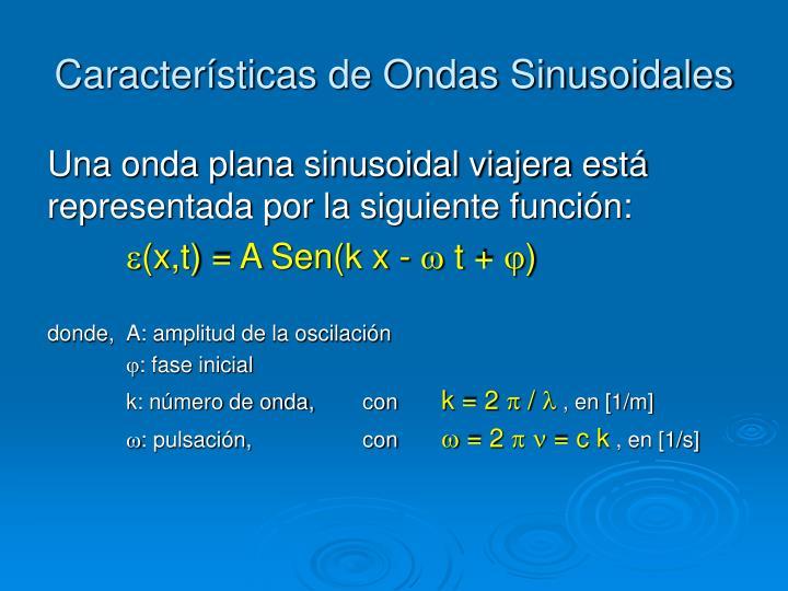 Características de Ondas Sinusoidales