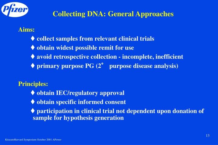 Collecting DNA: General Approaches