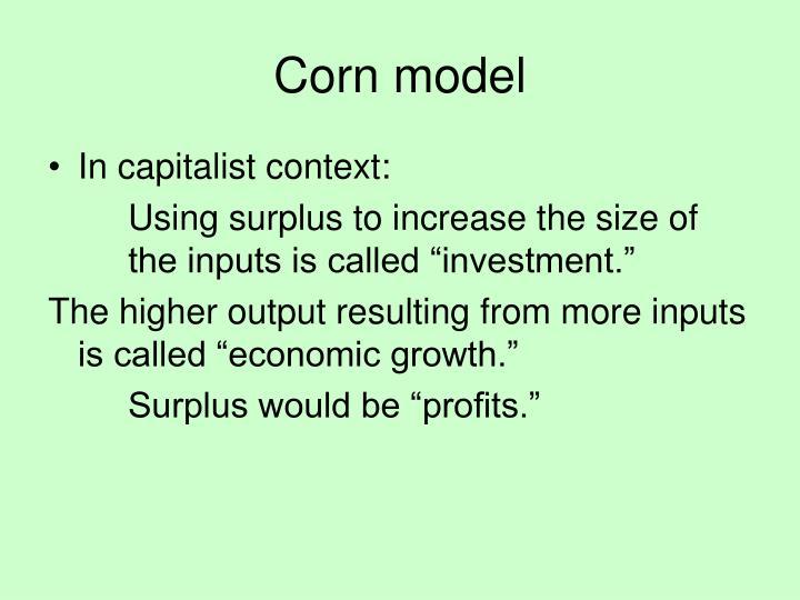Corn model
