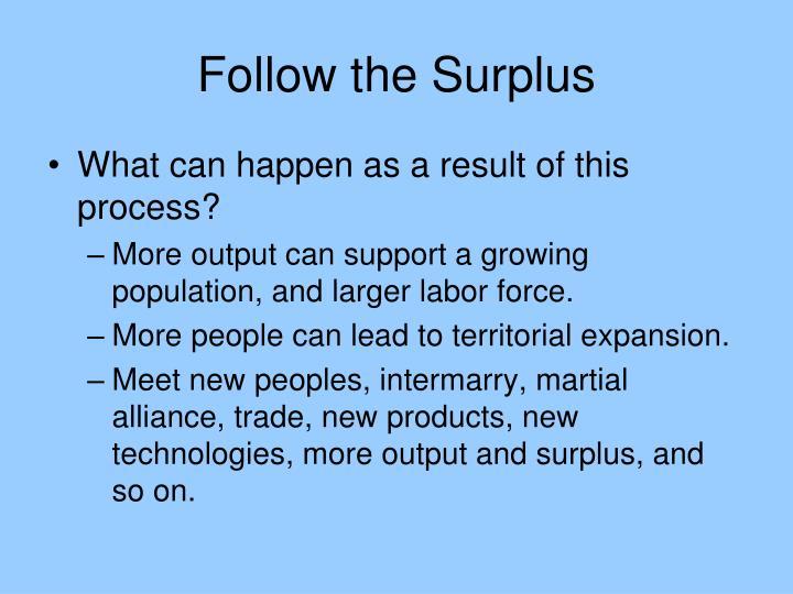 Follow the Surplus