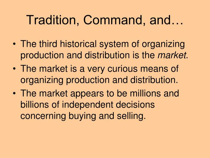 Tradition, Command, and…