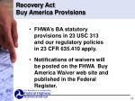 recovery act buy america provisions1