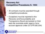 recovery act competitive procedures s 1554