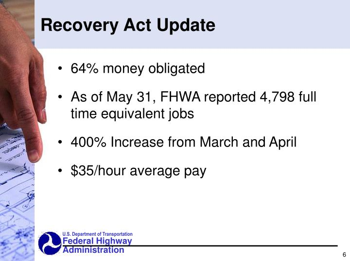 Recovery Act Update