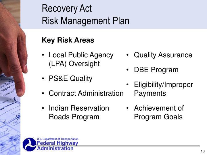 Key Risk Areas