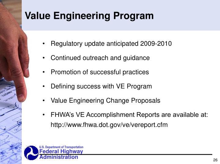 Value Engineering Program