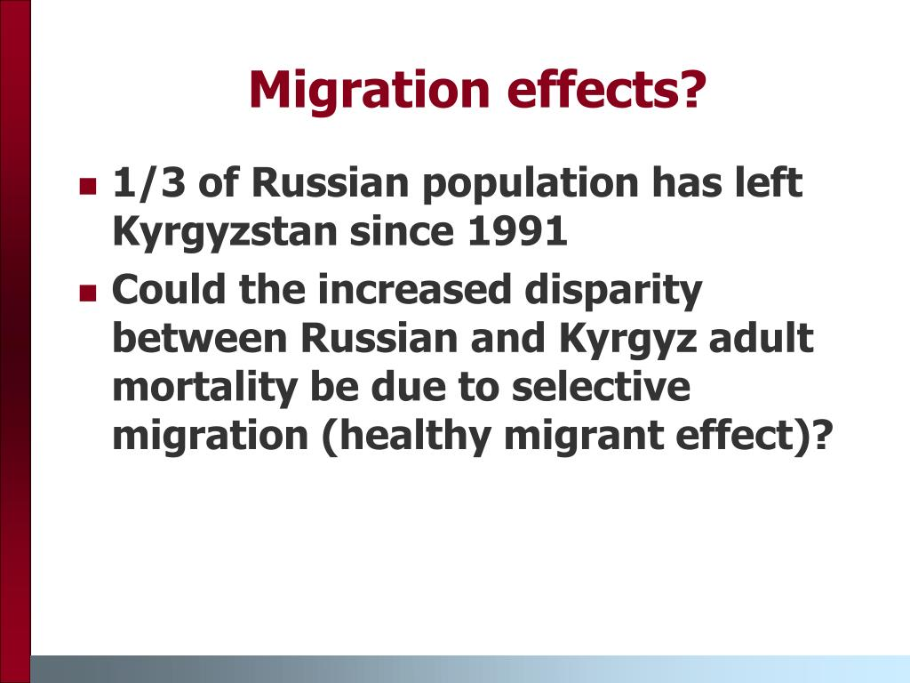 Migration effects?