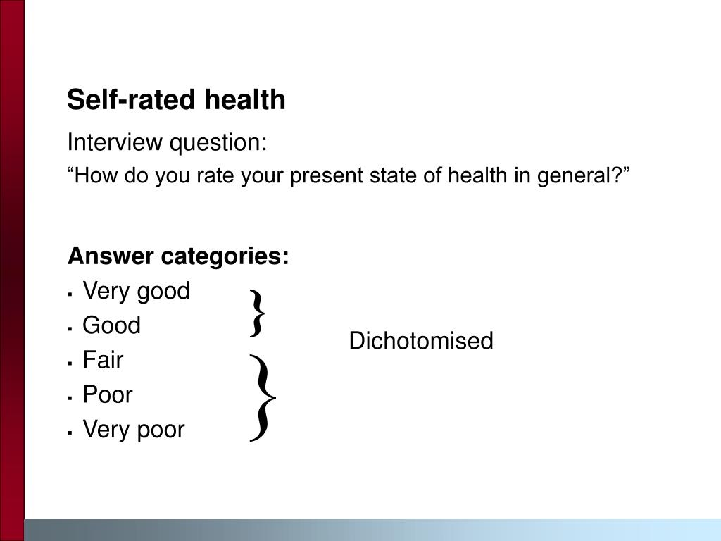 Self-rated health