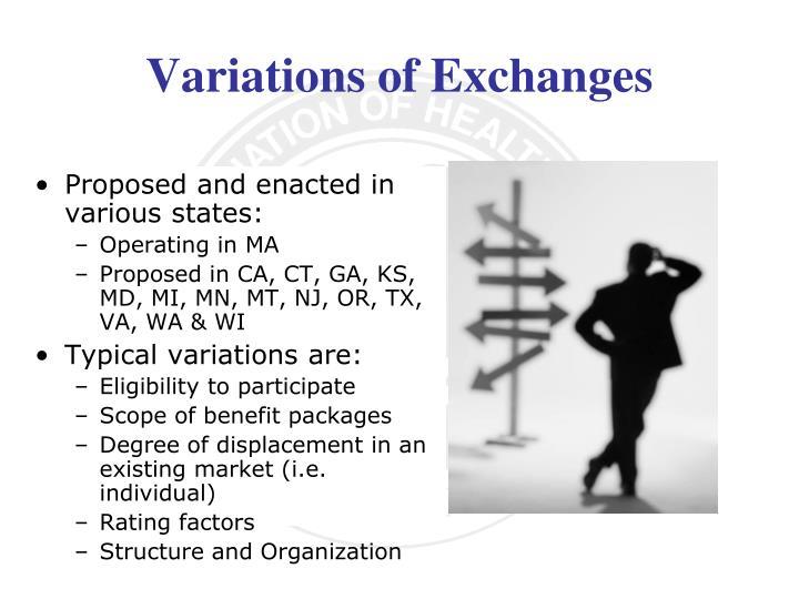 Variations of Exchanges
