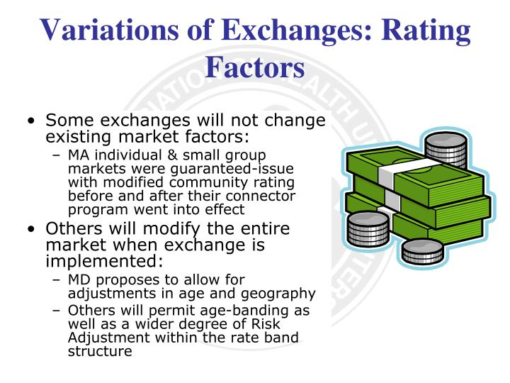 Variations of Exchanges: Rating Factors