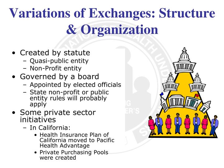 Variations of Exchanges: Structure & Organization