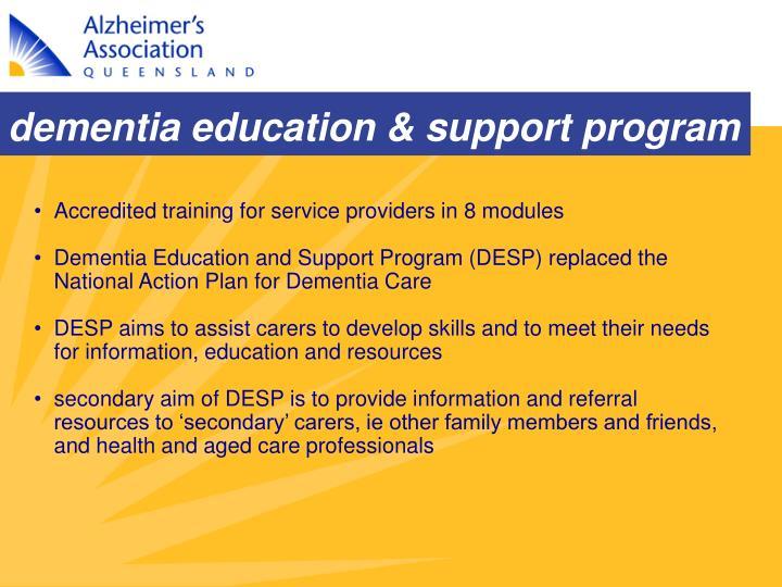 dementia education & support program