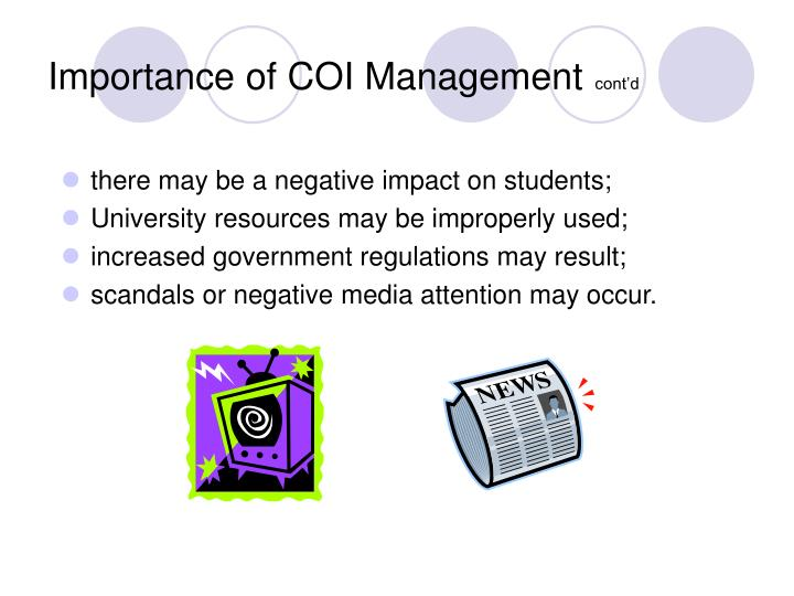 Importance of COI Management