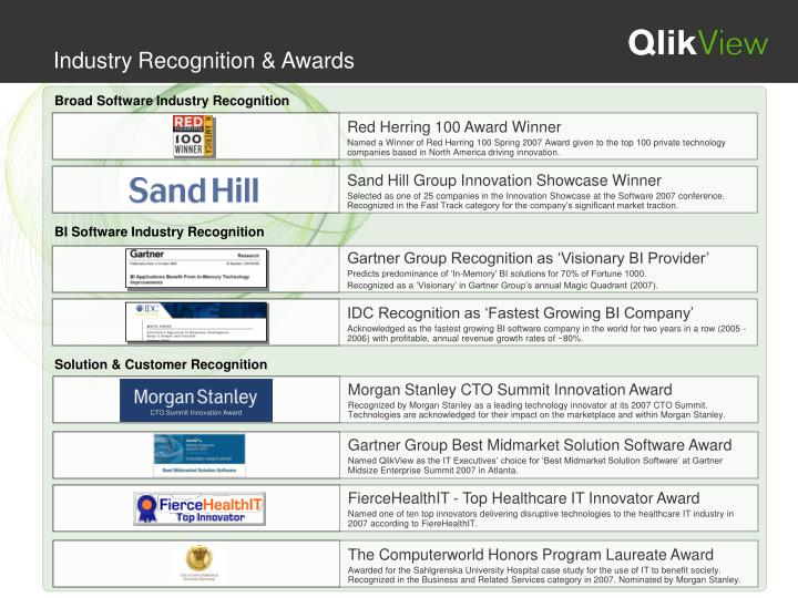 Industry Recognition & Awards