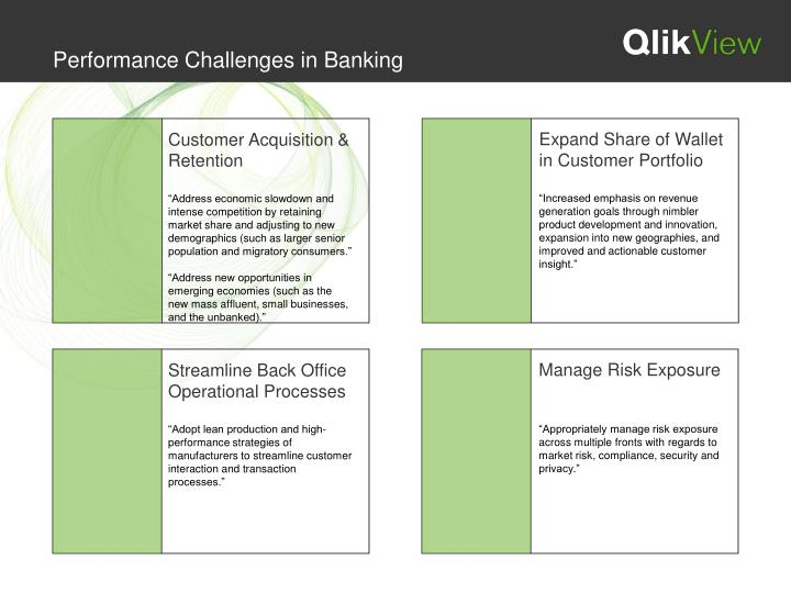 Performance Challenges in Banking