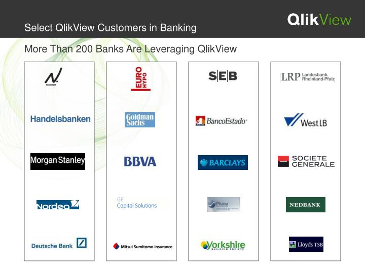 Select QlikView Customers in Banking