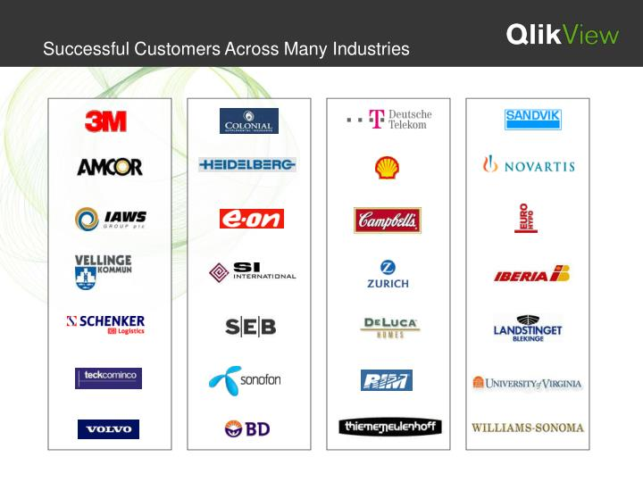 Successful Customers Across Many Industries