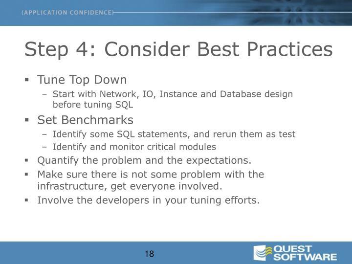 Step 4: Consider Best Practices