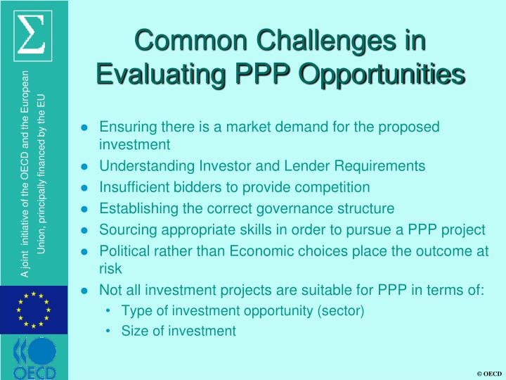 Common Challenges in Evaluating PPP Opportunities