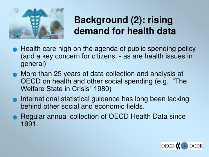 Background (2): rising demand for health data