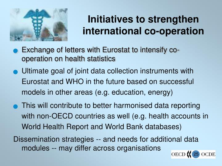 Initiatives to strengthen international co-operation