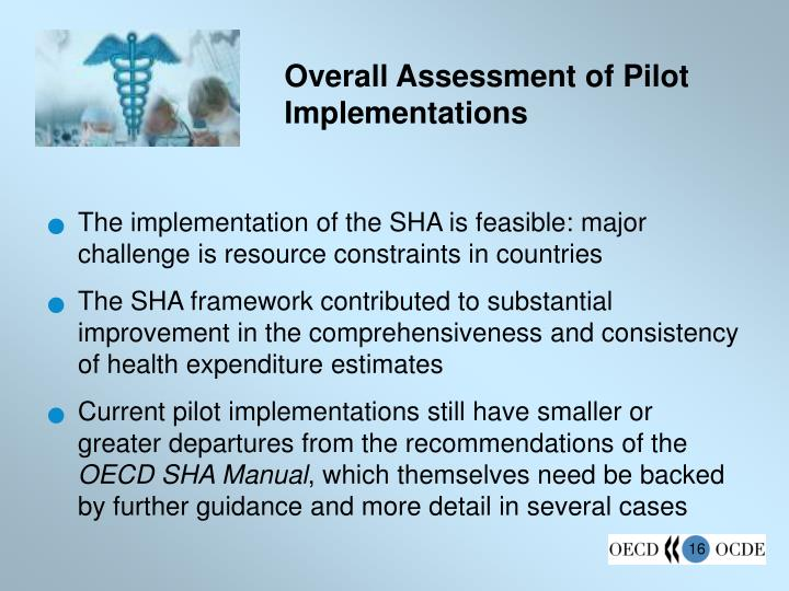 Overall Assessment of Pilot Implementations