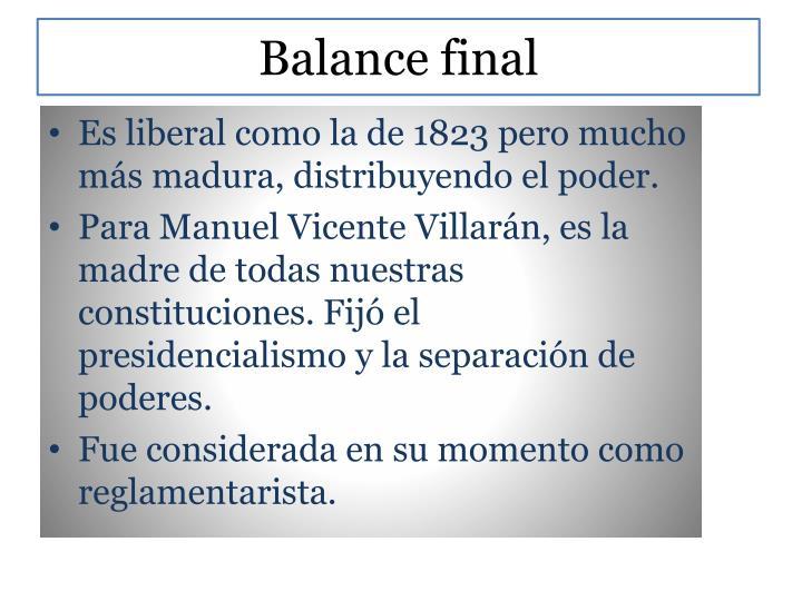 Balance final