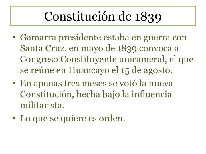 Constitución de 1839