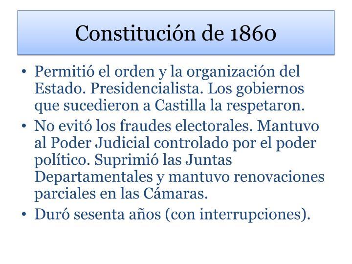 Constitución de 1860