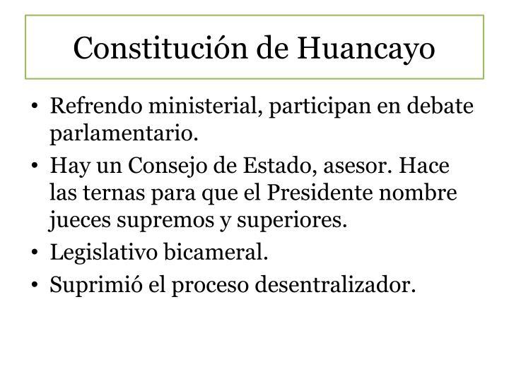 Constitución de Huancayo