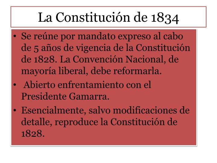 La Constitución de 1834