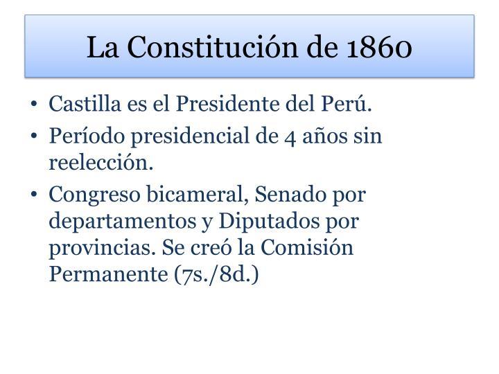 La Constitución de 1860