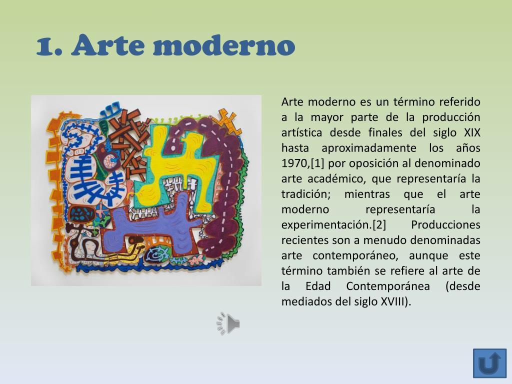 1. Arte moderno