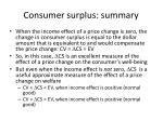 consumer surplus summary