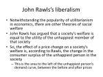john rawls s liberalism