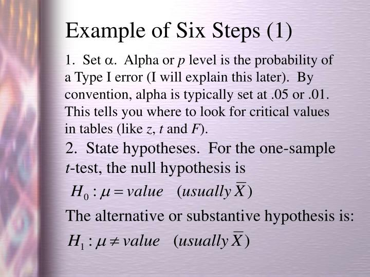 Example of Six Steps (1)