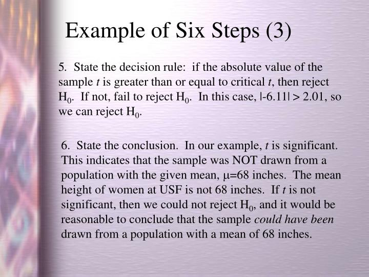 Example of Six Steps (3)