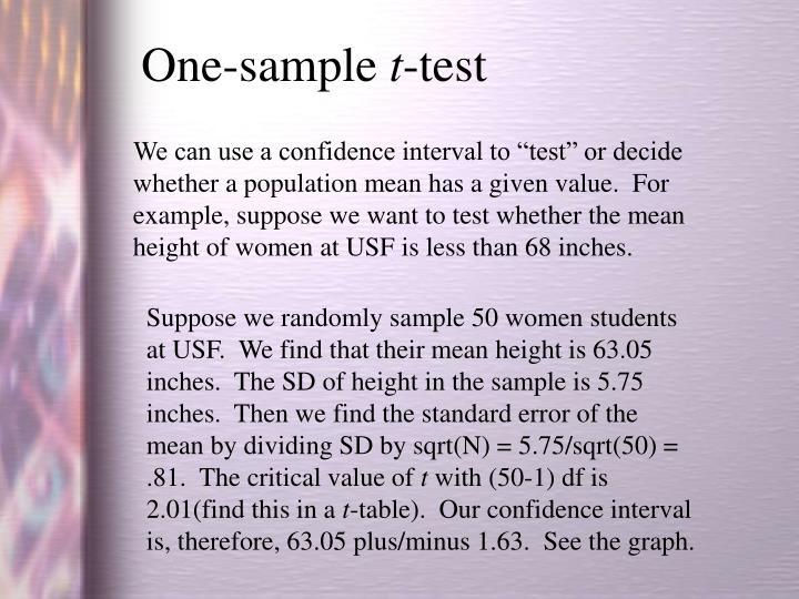 One-sample