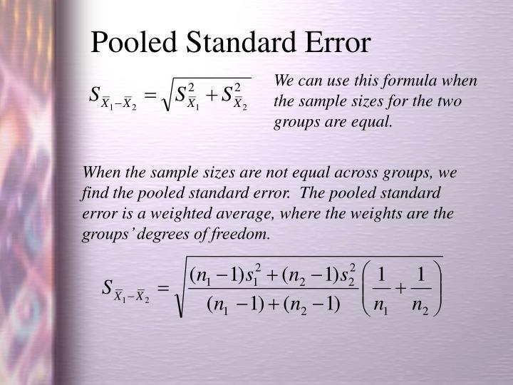 Pooled Standard Error