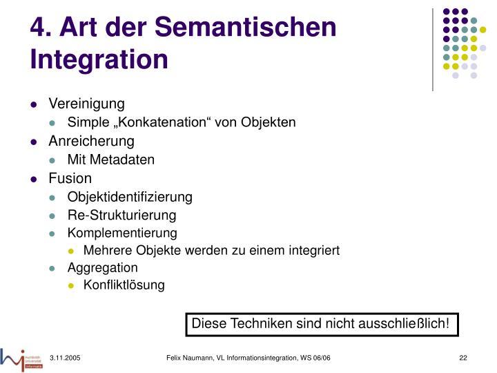 4. Art der Semantischen Integration