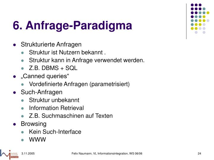 6. Anfrage-Paradigma