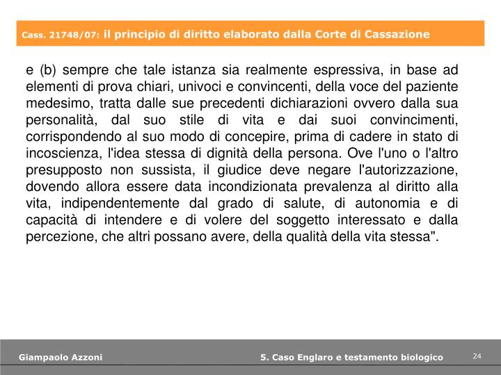 Cass. 21748/07: