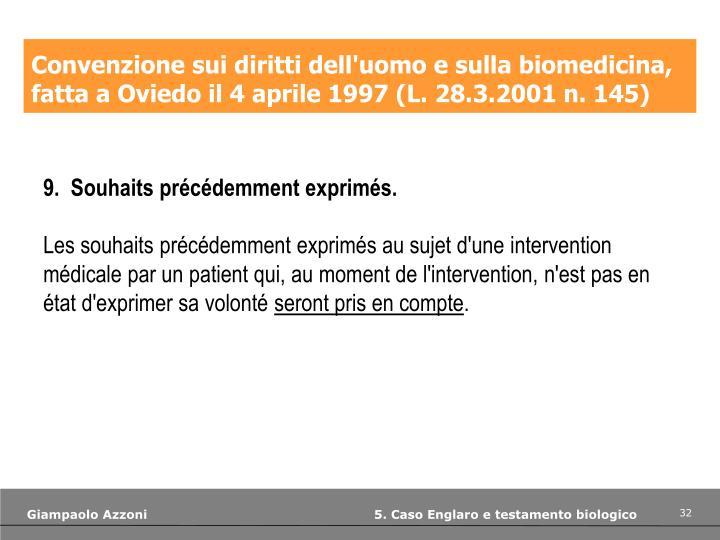 Convenzione sui diritti dell'uomo e sulla biomedicina,