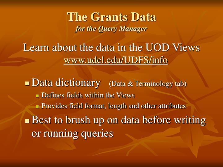 The Grants Data