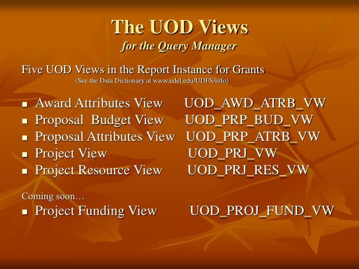 The UOD Views
