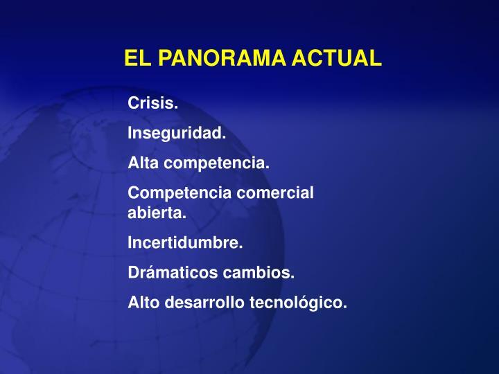 EL PANORAMA ACTUAL